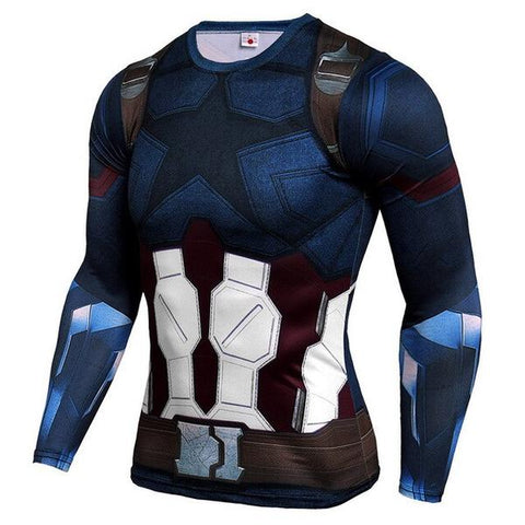 T-Shirt Captain America Musculation-Marvel World Shop
