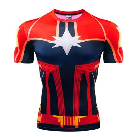 T-Shirt Captain Marvel Musculation-Marvel World Shop