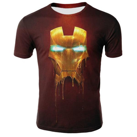 T-Shirt Iron Man Lumineux-Marvel World Shop