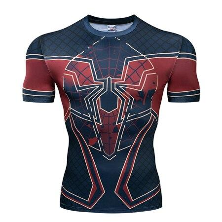 T-Shirt Spiderman Logo Compression-Marvel World Shop