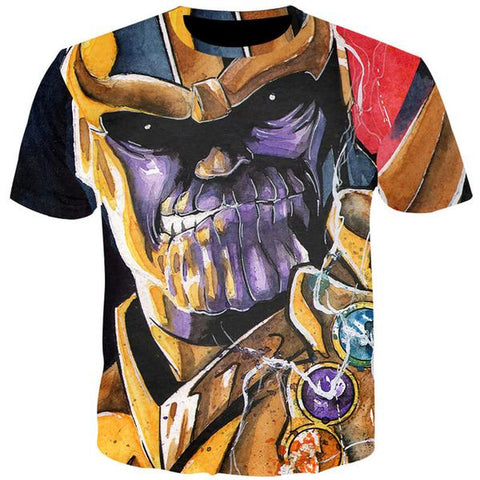 T-Shirt Thanos Comics-Marvel World Shop