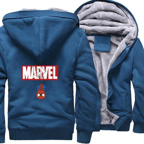 Veste Polaire Marvel (Bleu)-Marvel World Shop