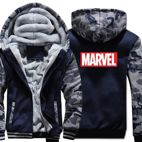 Veste Polaire Marvel (Bleu & Gris)-Marvel World Shop