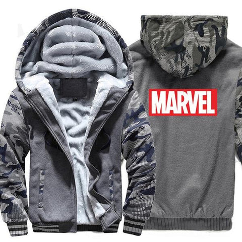 Veste Polaire Marvel (Gris & Militaire)-Marvel World Shop