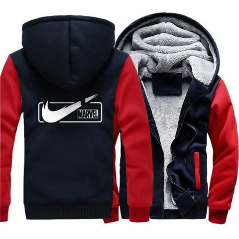Veste Polaire Marvel Nike (Bleu & Rouge)-Marvel World Shop