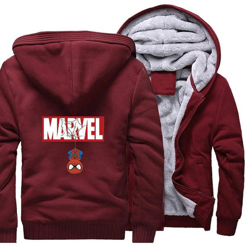 Veste Polaire Marvel (Rouge)-Marvel World Shop