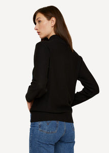 Oleana cut canvas Pullover