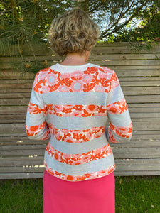 Oleana Darling buds Cardigan in soft peach