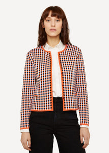 Oleana Gingham graph Cardigan