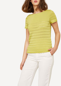 Oleana Knit lace top