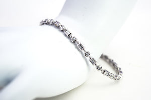 All bezel diamond bracelet