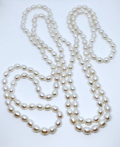 Extra long 11mm freshwater pearl necklace