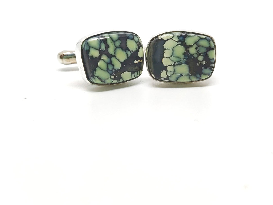 Kingman turquoise Sterling cufflinks