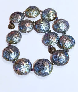 Amazing Mother of Pearl Mosaic Bead Necklace