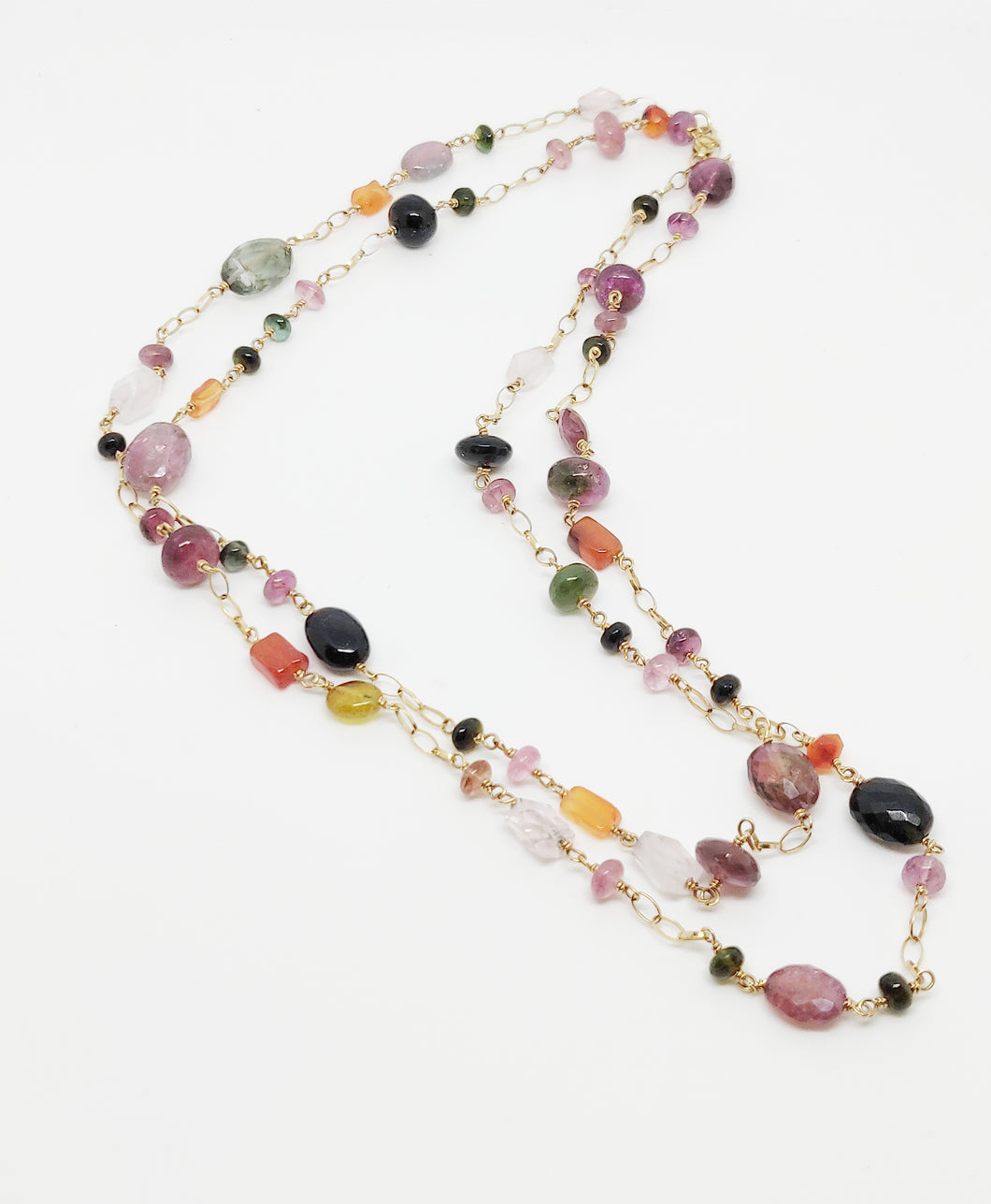 Gold and tourmaline necklace