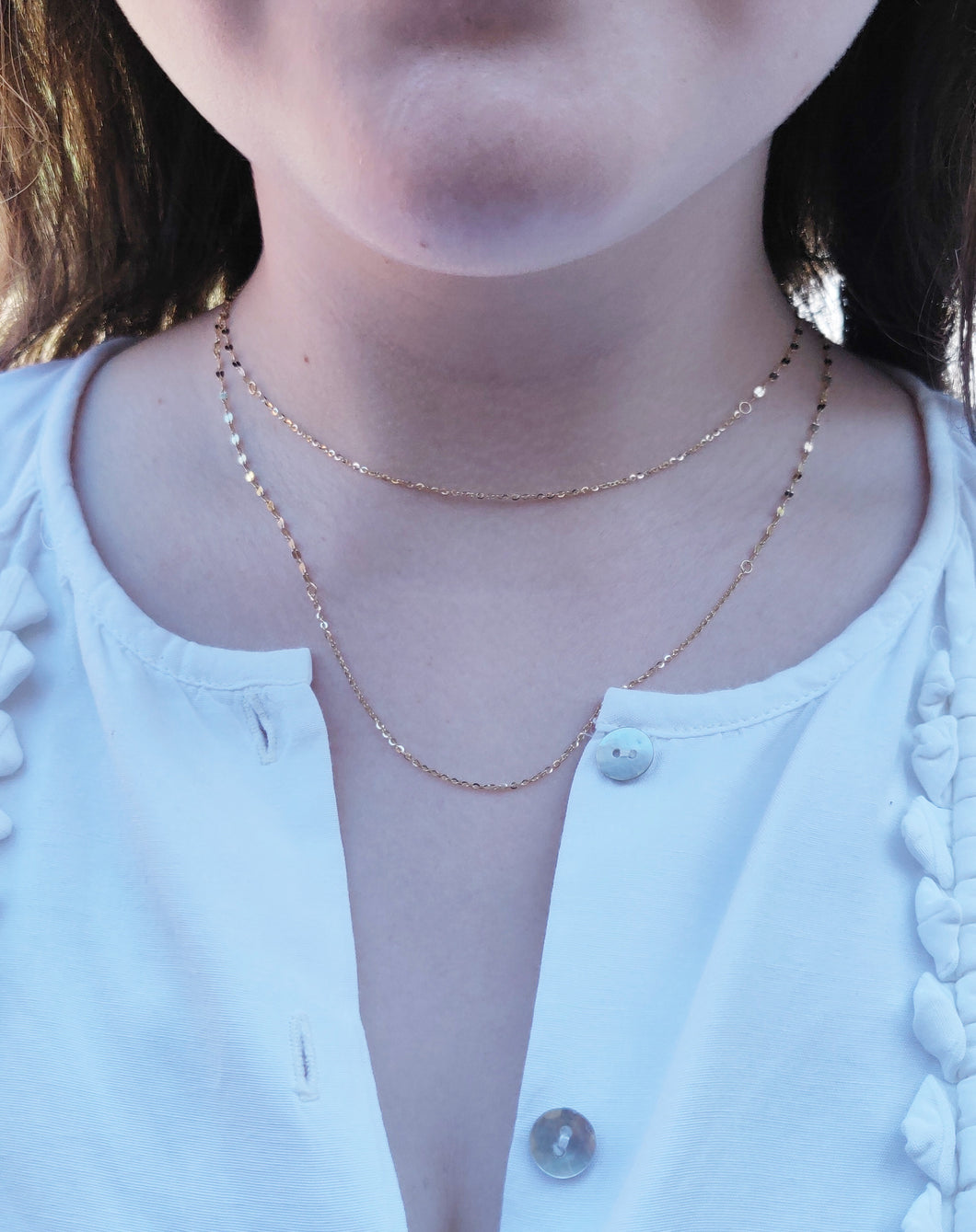 Dainty Long Chain Necklace