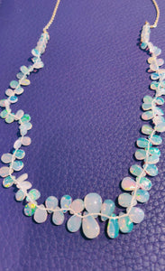 Opal and Gold Necklace