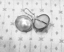 "Load image into Gallery viewer, ""Fried Egg"" Mabe Pearl Earrings"