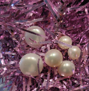 Three Pairs of Freshwater Pearl Studs