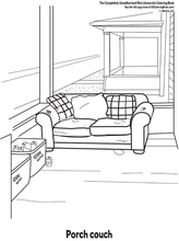 Load image into Gallery viewer, Interior page from Ohio University coloring book funny