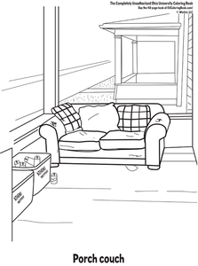 Interior page from Ohio University coloring book funny