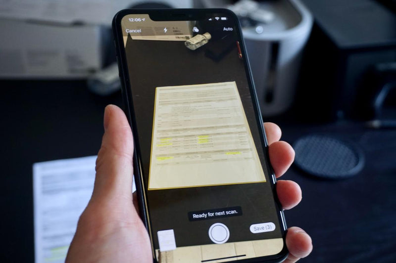 Digitalizar os documentos no iPhone e sem utilizar nenhuma app !