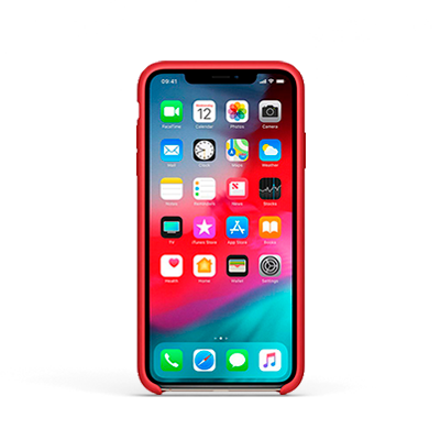 Capa | iPhone X e XS | Silicone Red - imobiles
