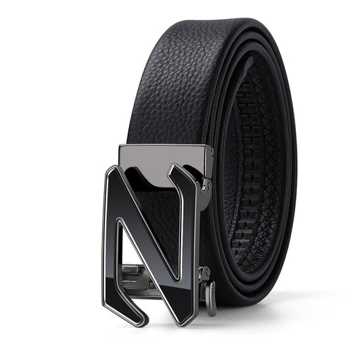 Genuine Leather Z Buckle Belt