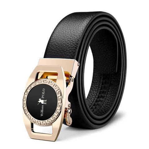 Automatic Buckle Luxury Leather Belts for Men