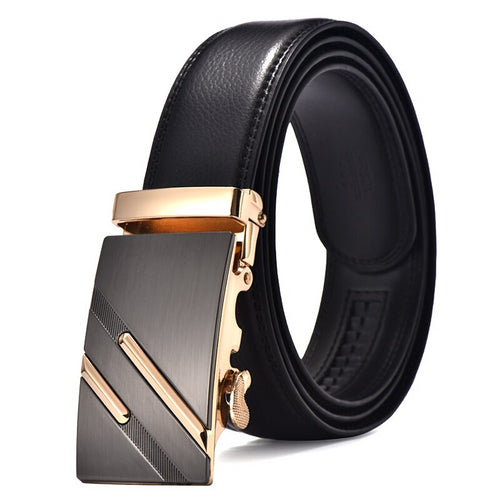 Genuine Leather Men Wedding Patterned Belt