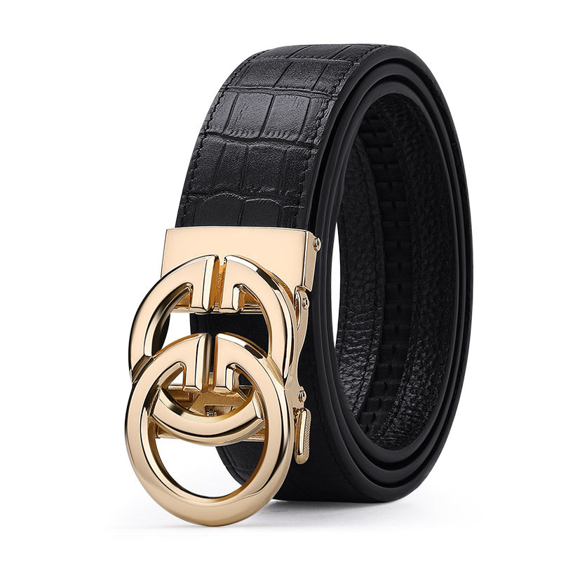 Exclusive Leather Automatic Buckle Belt