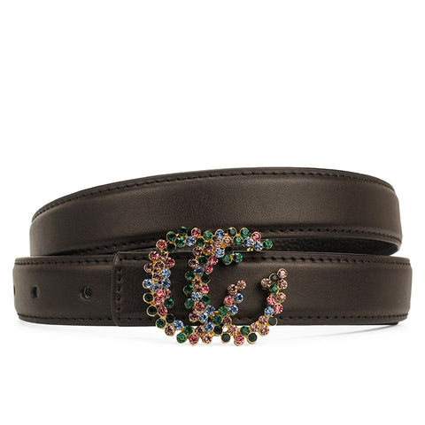 Genuine Leather Women Shiny Belt