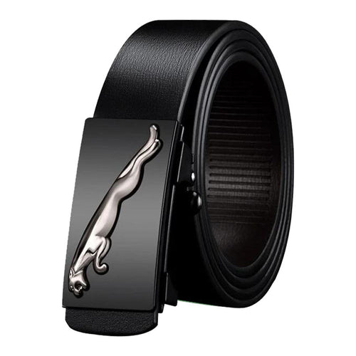 Genuine Leather Belts For Men Automatic  Belts Cheetah Buckle