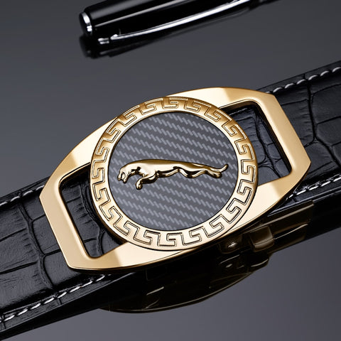 Genuine Leather Luxury Automatic Buckle Men Belt