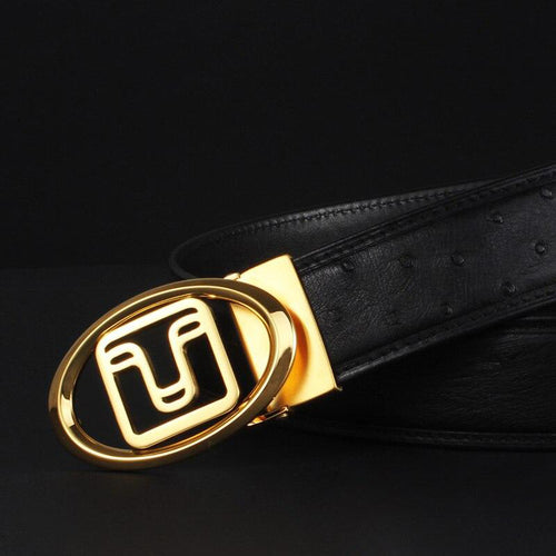 Ostrich belt Luxury Genuine Leather Belts for Men