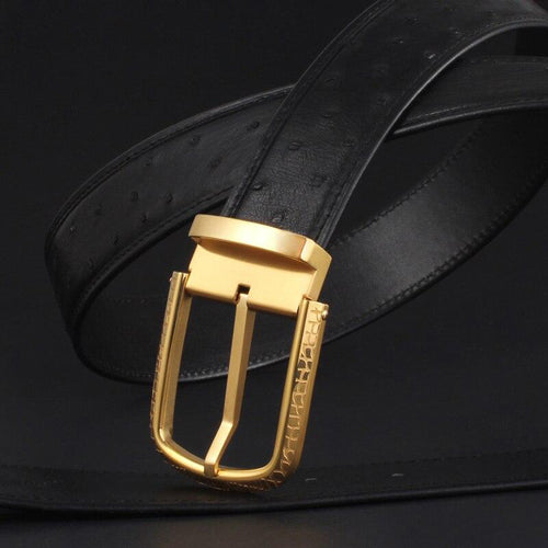 Genuine Ostrich Leather belt Men Luxury Waist Belts