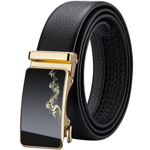 Genuine Luxury Dragon Leather Belts for Automatic Buckle Men