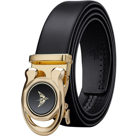 luxury Strap Male Metal  Automatic Buckle Belts