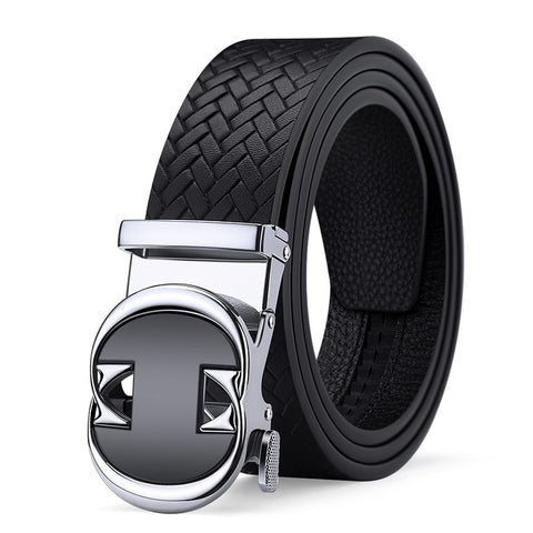 New Fashion Automatic Buckle Genuine Leather Belt Men's