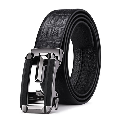 Men High Quality Black Buckle Business Men  Belt