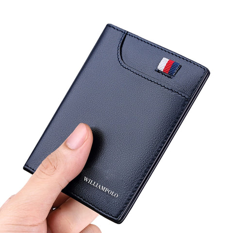 Men's Wallets Thin Card Holder Genuine Leather Soft Fashion Mini Purses
