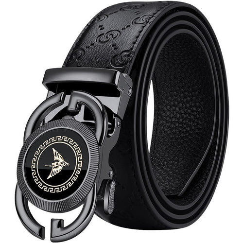 Genuine leather Belt Men Metal Automatic Buckle