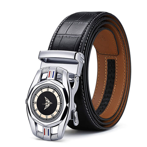 Exclusive Quality Automatic Buckle black Belts Cummerbunds