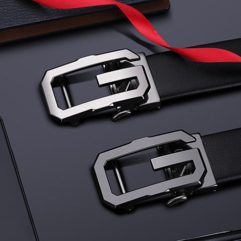 Genuine leather G Automatic Buckle Belt Men