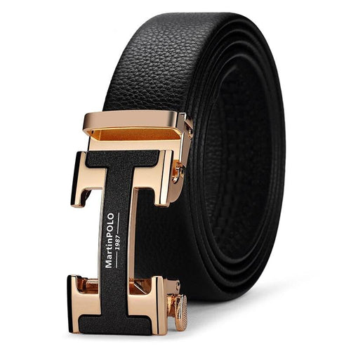 Genuine Leather Designer Belts Men Luxury Automatic Buckle Belts for Men