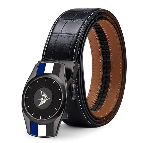 2019 Fashion Men's Belt Automatic Buckle Casual Luxury Brand  High Quality Genuine Leather Belt