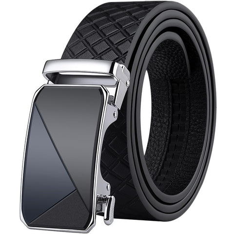 Genuine leather Belt Men Automatic Buckle
