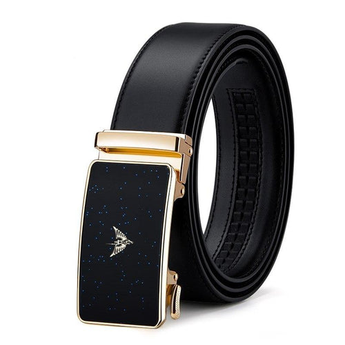 Genuine Leather Belt Men Luxury Designer Automatic Buckle