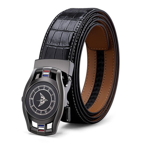 High Quality Leather Luxury Designer Automatic Belt Men