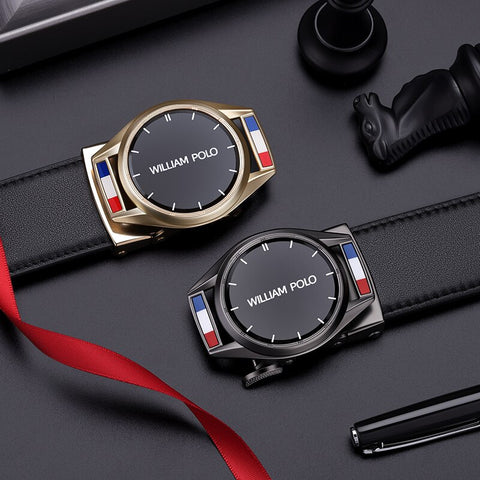 Leather Strap Male Automatic Buckle Belts Men's Belts